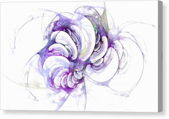 Beyond Abstraction Purple Canvas Print
