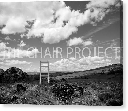 Canvas Print featuring the photograph Beyond Here / The Chair Project by Dutch Bieber
