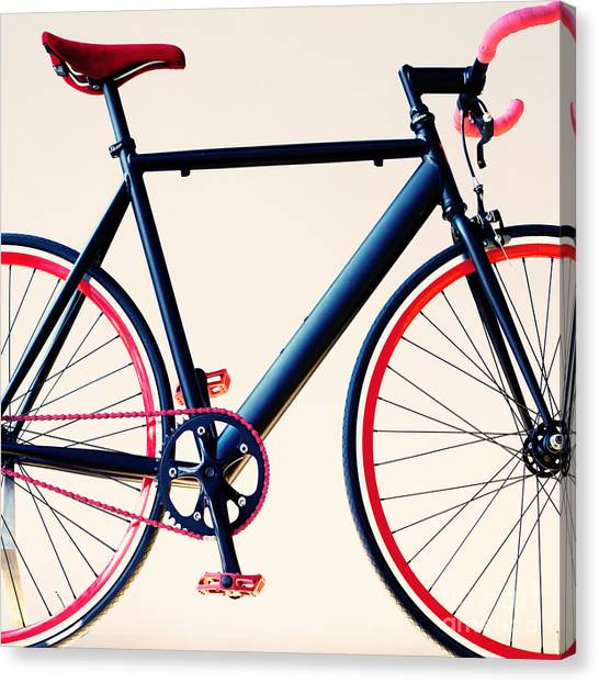 Basket Canvas Print - Bicycle by Andrekart Photography