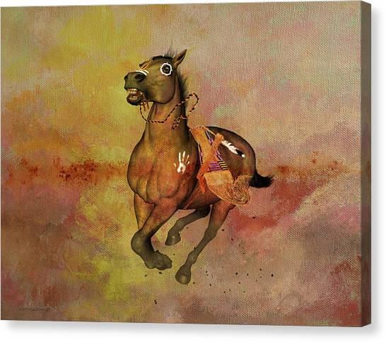 Canvas Print featuring the painting Bid For Freedom by Valerie Anne Kelly