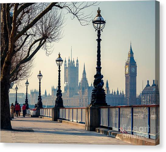 British Canvas Print - Big Ben And Houses Of Parliament In by S.borisov