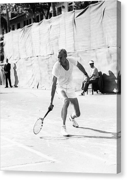 Big Bill Tilden On The Court Canvas Print