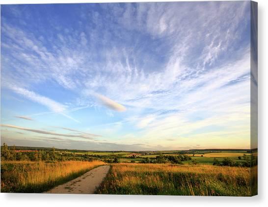 Nottinghamshire Canvas Print - Big Skies Over Nottinghamshire by Doug Chinnery