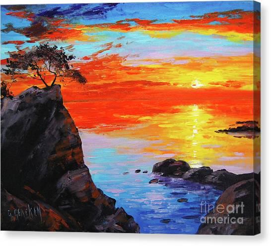 Colourful Canvas Print - Big Sur Sunset by Graham Gercken