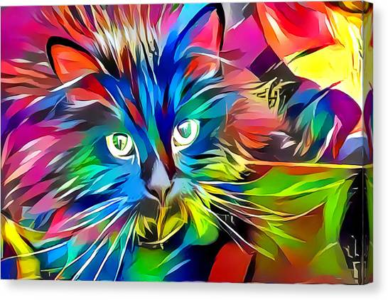 Big Whiskers Cat Canvas Print