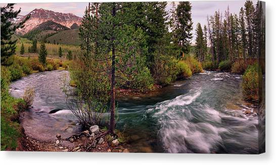 Big Wood River Curve 2 Canvas Print by Leland D Howard