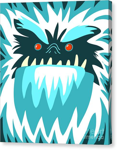 Winter Fun Canvas Print - Bigfoot Face by Complot