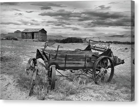 Bighorn Basin History Canvas Print by Leland D Howard