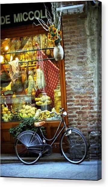 Bike In Sienna Canvas Print