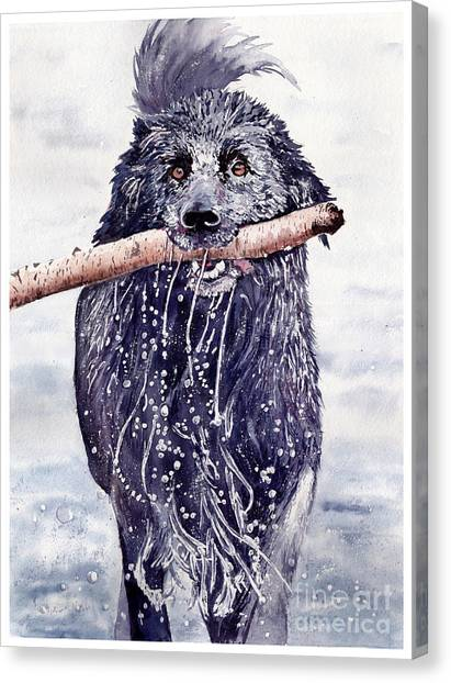 Carnivore Canvas Print - Bill Out Of The Blue by Suzann's Art