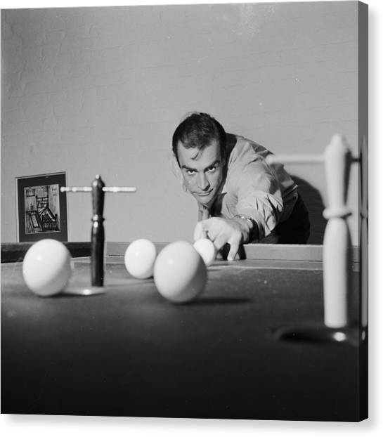 Billiard Bond Canvas Print