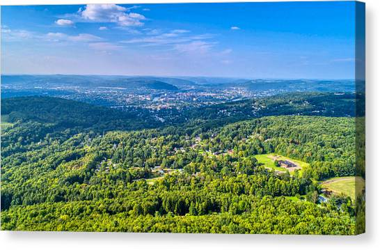 Binghamton Aerial View Canvas Print