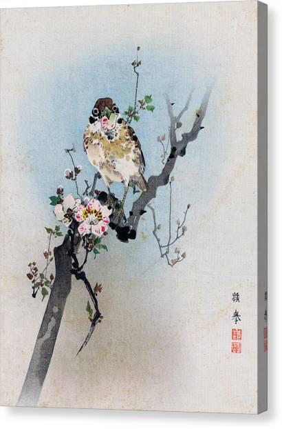 Bird And Petal Canvas Print