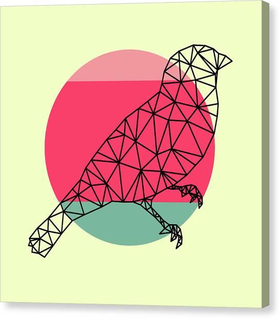 Lynx Canvas Print - Bird And Sunset by Naxart Studio