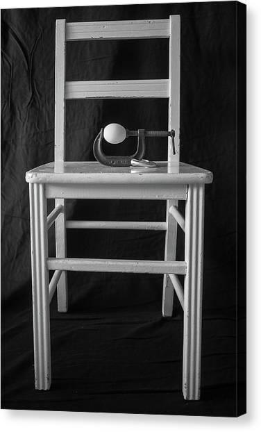 Canvas Print featuring the photograph Bird / The Chair Project by Dutch Bieber