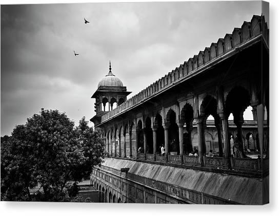 Birds Over The Jama Masjid Canvas Print