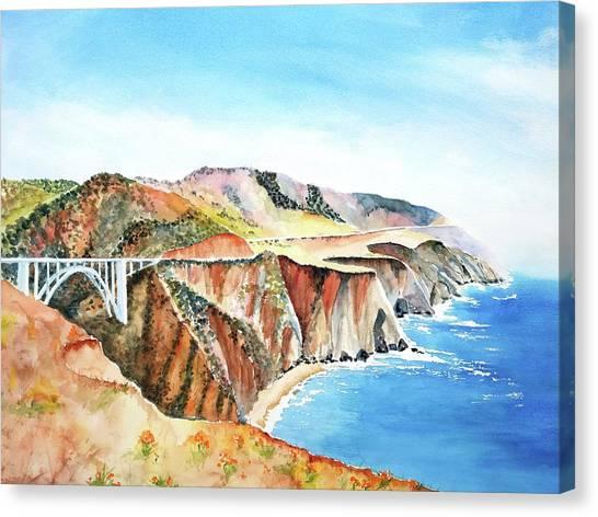 Bixby Bridge 3 Big Sur California Coast Canvas Print