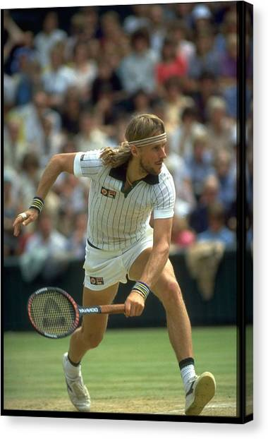 Bjorn Borg Sweden Wimbledon Canvas Print