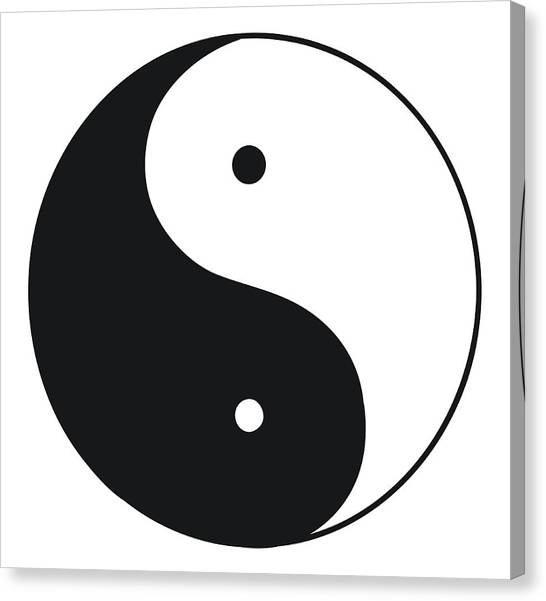 Black And White Illustration Of Tai Chi Canvas Print by Dorling Kindersley