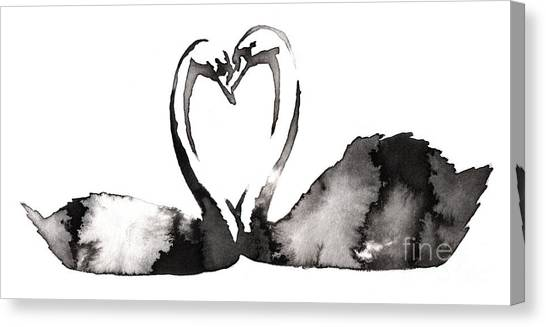 Zoology Canvas Print - Black And White Monochrome Painting by Evgeny Turaev