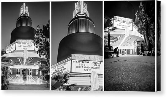 Black And White Triptych- Canvas Print