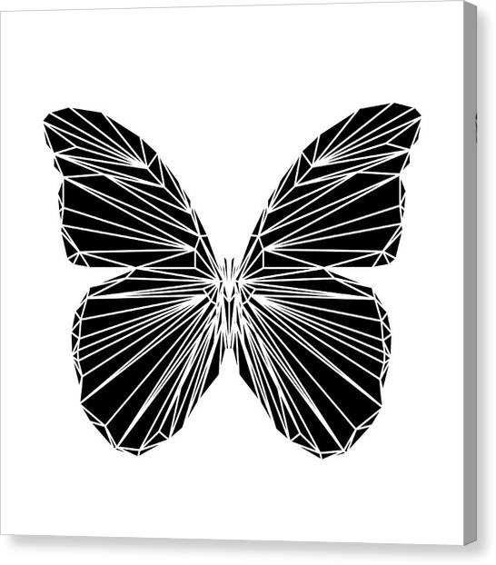 Lynx Canvas Print - Black Butterfly by Naxart Studio