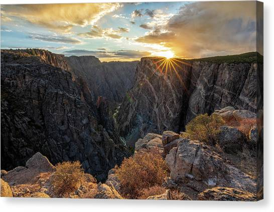 Black Canyon Sendoff Canvas Print