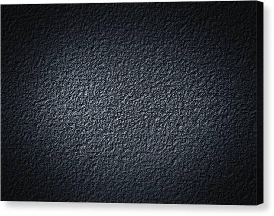 Black Concrete Canvas Print
