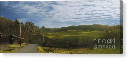Black Creek Dairy Canvas Print by Alan Del Vecchio