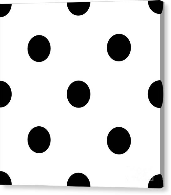 Black Dots On A White Background- Ddh610 Canvas Print