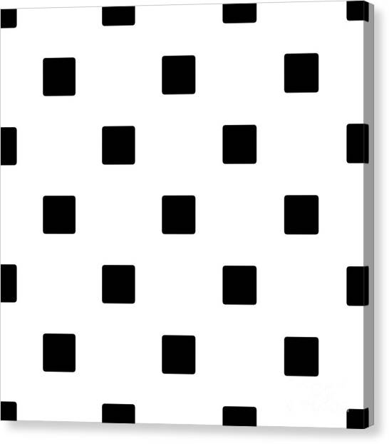 Black Squares On A White Background- Ddh574 Canvas Print