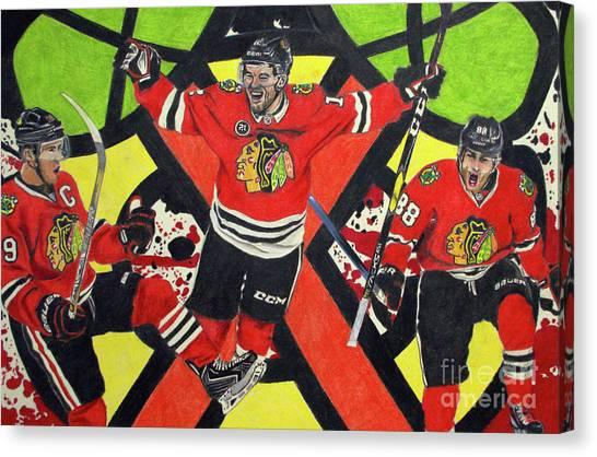Blackhawks Authentic Fan Limited Edition Piece Canvas Print