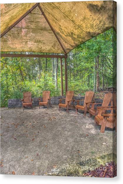 Blacklick Woods - Chairs Canvas Print