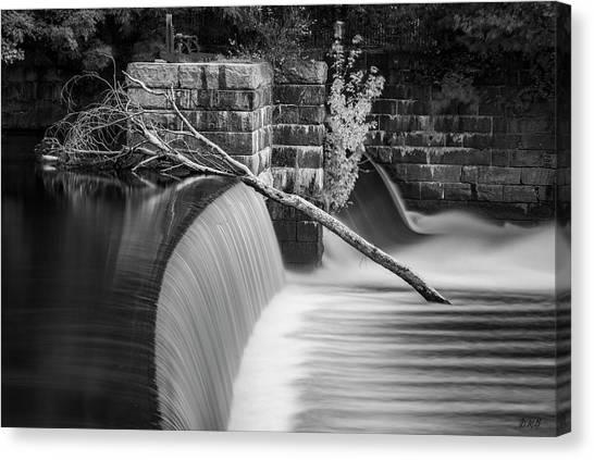 New England Revolution Canvas Print - Blackstone River Xii Bw by David Gordon