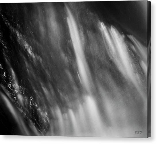 Canvas Print featuring the photograph Blackstone River Xvii  Bw by David Gordon