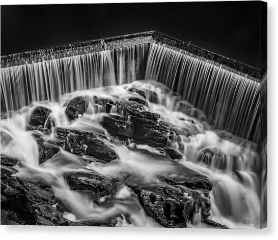 Canvas Print featuring the photograph Blackstone River Xviii Bw by David Gordon