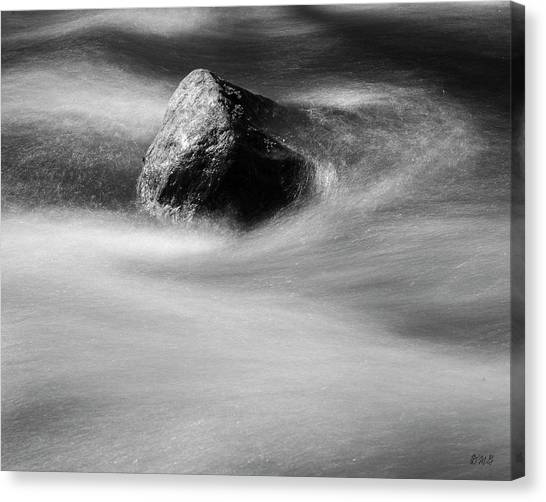 Canvas Print featuring the photograph Blackstone River Xx Bw by David Gordon