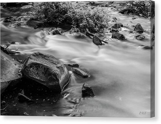 Canvas Print featuring the photograph Blackstone River Xxi Bw by David Gordon