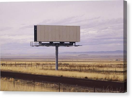 Placard Canvas Print - Blank Billboard by Photo 24