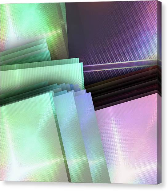 Fashion Plate Canvas Print - Blank Reflective Aluminum Plates. Blue, Pink And Purple. Fashion Abstract Background. by Rudy Bagozzi
