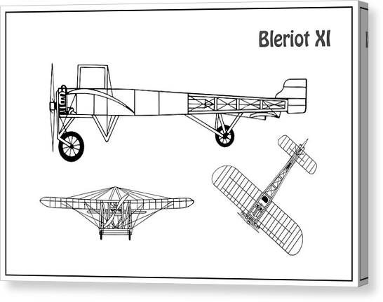 airplane schematic canvas prints fine art america generator schematic airplane schematic canvas print bleriot xi airplane blueprint drawing plans or schematics with design