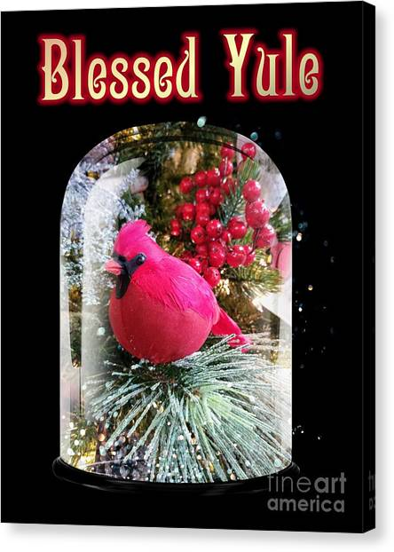 Canvas Print featuring the photograph Blessed Yule by Rachel Hannah