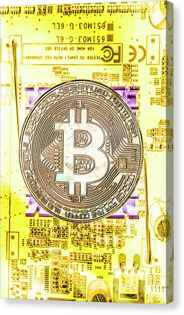 Money Canvas Print - Blockchain Processing by Jorgo Photography - Wall Art Gallery