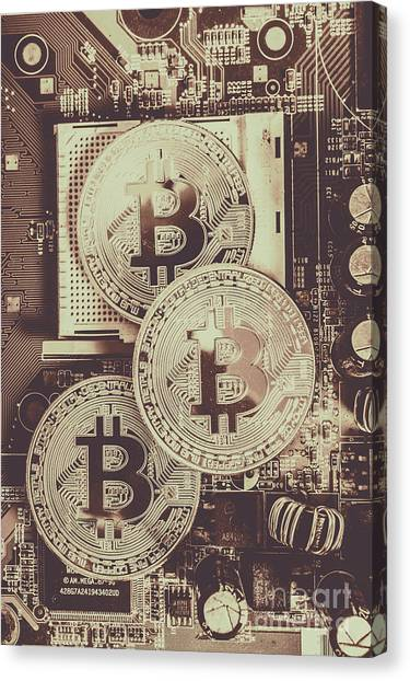 Money Canvas Print - Blocks Of Bitcoin by Jorgo Photography - Wall Art Gallery