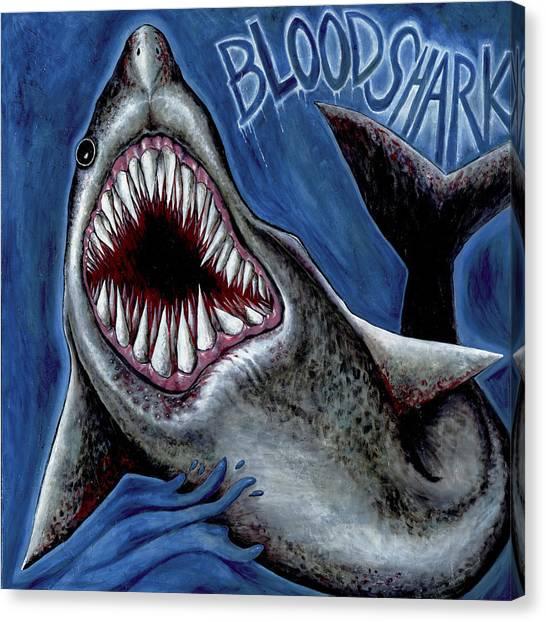 Blood Shark Canvas Print
