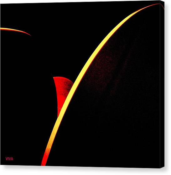 Bloodmoonrise Abstract Canvas Print