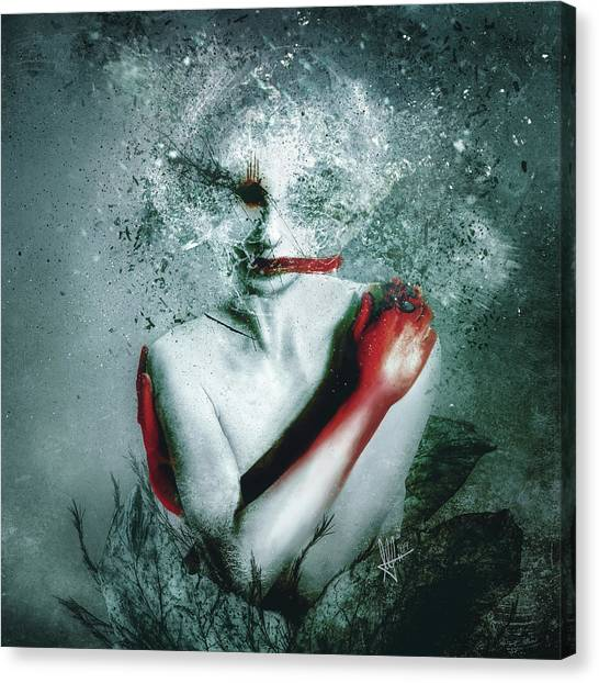 Gothic Art Canvas Print - Blooming Protection by Mario Sanchez Nevado