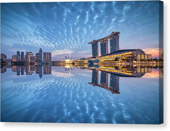 Blu Duo Canvas Print by (c) Jonathan Chiang/scintt