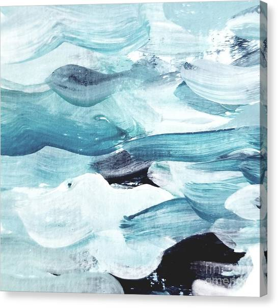 Canvas Print featuring the painting Blue #13 by Maria Langgle