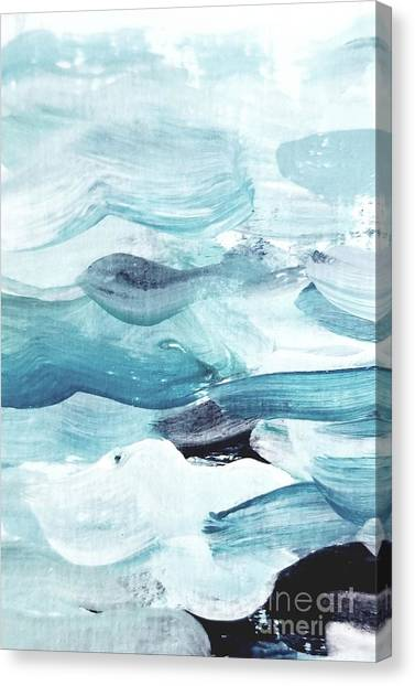 Canvas Print featuring the painting Blue #14 by Maria Langgle